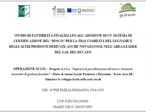 Progetto a regia diretta A.2.1.a, Superare la parcellizzazione del bosco: strumenti innovativi di gestione forestale