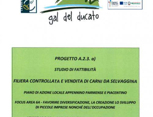 Progetto a regia diretta A.2.3.a, Filiera controllata e vendita di carni da selvaggina