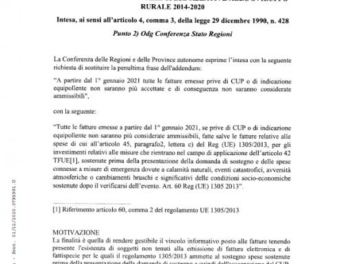 COMUNICAZIONE AI BENEFICIARI SU MODALITA' DI FATTURAZIONE – PSR 2014/2020 – MISURA 19