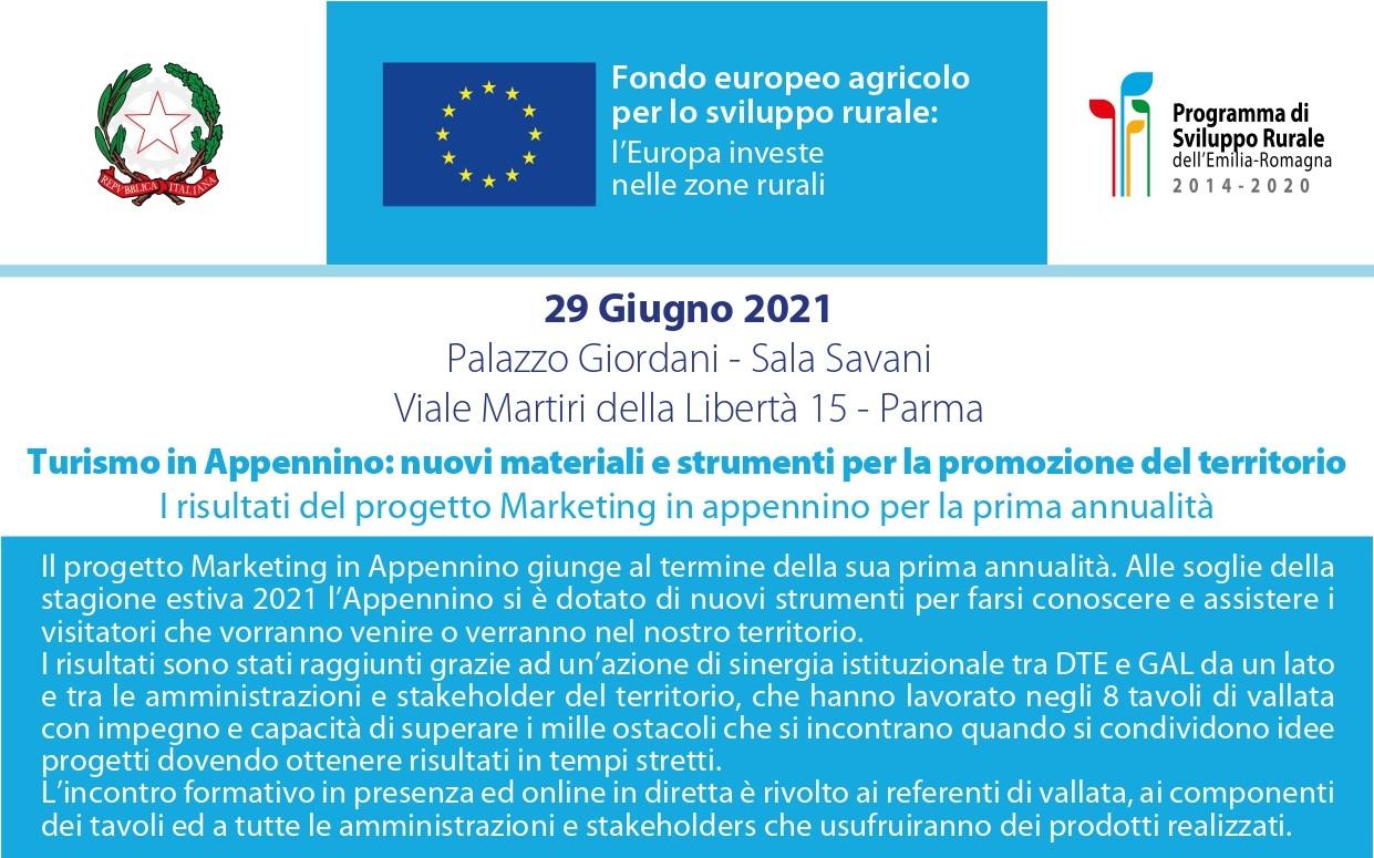 """Incontro: """"Turismo in Appennino: nuovi materiali e strumenti per la promozione del territorio"""" – martedì 29 giugno 2021, ore 15.30"""