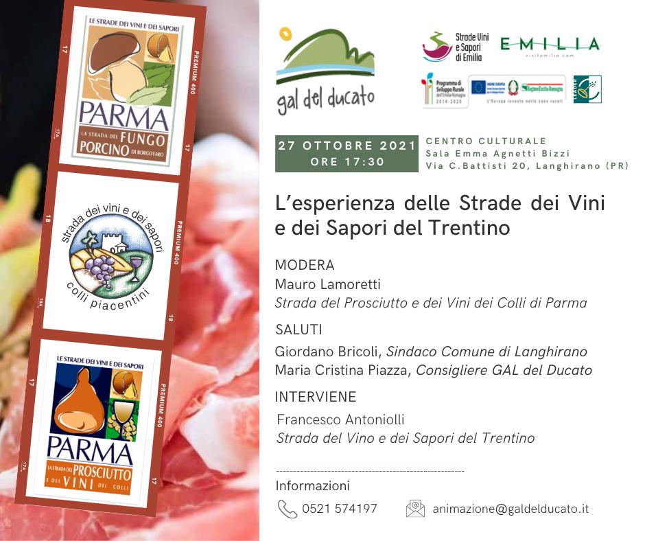 Conferenza: L'esperienza delle Strade dei Vini e dei Sapori del Trentino